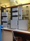High Performance Liquid Chromatography HPLC instrument. The image of scientific instrument the HPLC Stock Photos