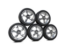 High performance, low profile tyres royalty free stock photo