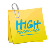 High performance memo post illustration Royalty Free Stock Photography