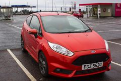 A high performance 2017 registered Ford Fiesta 1.6 ST car in the Tesco car park at Newtownards County Down Northern Ireland stock photos