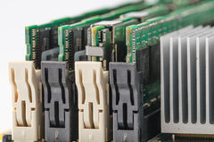 High performance server memory cartridge moudules. Closeup view Stock Images