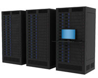 High Performance Servers Royalty Free Stock Photography