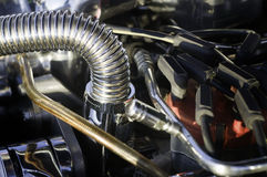 High performance sports car engine Stock Images