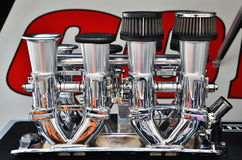 High Performance Velocity Stacks and Intake Manifold Royalty Free Stock Photography