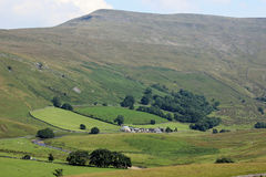 High Pike Hill, Mallerstang Edge, Birkett Bottom. View from Wharton near Kirkby Stephen in Cumbria, England looking south-east across the Mallerstang valley to Stock Image