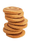 The high pile of biscuits Royalty Free Stock Photos