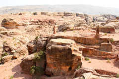 High place of Sacrifice  in Petra Stock Images