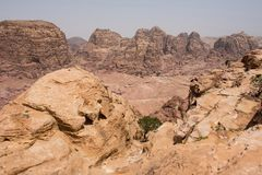 High Place of Sacrifice. Petra, Jordan royalty free stock photo