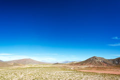 High Plains Landscape in Bolivia Stock Images