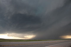 High plains supercell thunderstorm Stock Image