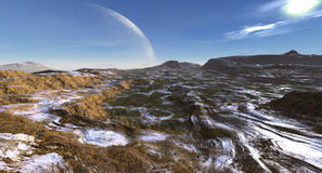 The High Plateau at Moonrise Stock Images