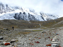 High plateau under Tilicho peak, Nepal Royalty Free Stock Image