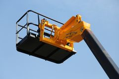 High platform for industrial work in elevation with safely Royalty Free Stock Photography