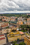 High point view over city of Rome Italy Royalty Free Stock Photo