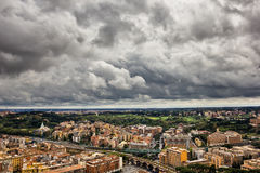 High point view over city of Rome Italy Stock Photos