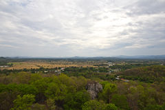 High point view of Saraburi town morning in Thailand Stock Images