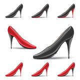 High Pointy Heel Shoes Royalty Free Stock Images