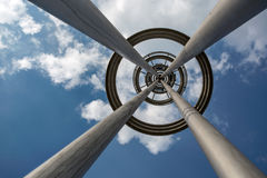 High pole lamp into the sky. General high pole lamp,Different viewing angles have different views Stock Image