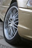 High polished alloy. High pollished alloy wheel - 18 royalty free stock image