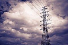 High power electrical pole stock photos