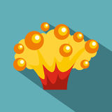 High power explosion icon, flat style. High power explosion icon. Flat illustration of high power explosion vector icon for web Stock Images