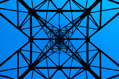 High power line pattern Royalty Free Stock Image
