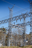 High Power Substation Royalty Free Stock Images