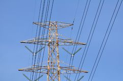 High-power tower Power transmission stock images