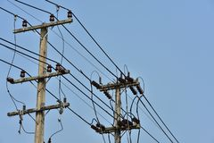 High-power tower Power transmission system. royalty free stock photography