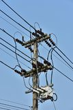 High-power tower Power transmission system. stock image