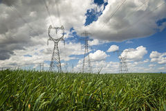 High Power Transmission Line. Stock Photo