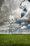 High Power Transmission Line. Royalty Free Stock Image