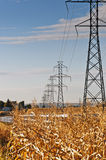High Power Transmission Lines Royalty Free Stock Images