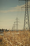 High Power Transmission Lines Stock Image