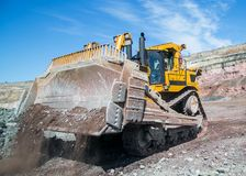 High-powered bulldozer, bulldozer Stock Photo