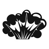 High powered explosion icon, simple style. High powered explosion icon. Simple illustration of high powered explosion vector icon for web Royalty Free Stock Photography