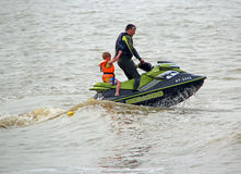 High powered jet ski family Stock Photography