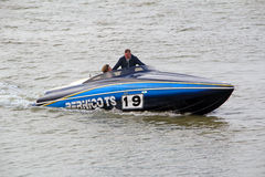 High powered race speedboat Royalty Free Stock Image