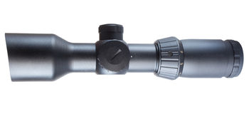 High powered rifle scope Stock Photo