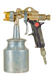 High preassure suction feed spray gun. 1960's well used suction feed high preassure car paint refinishing spray gun such as would be used by enthusiasts to Royalty Free Stock Photo