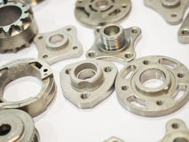 High precision aluminium part manufacturing by casting and machi Stock Photography