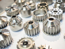 high precision aluminium part manufacturing by casting and machi Royalty Free Stock Photography