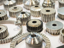 high precision aluminium part manufacturing by casting and machi Stock Photos