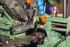 High precision automatic forming machine at workshop royalty free stock photography