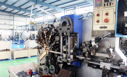 High Precision Automotive CNC machines Factory flo. View of Factory Floor Manufacturing High precision  CNC Cutting punching machines automobile metal alloy Stock Image