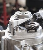 Automotive gear. High precision automotive gear box close up royalty free stock photo