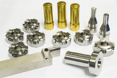High precision automotive machining mold and die parts. Of forging process royalty free stock image