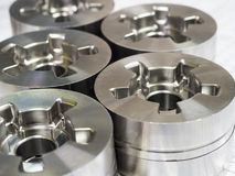 High precision automotive machining mold and die parts. Of forging process stock photo