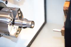 High precision automotive part manufacturing by high accuracy cn Royalty Free Stock Photo