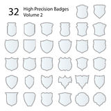 High Precision Badges Set Stock Photography
